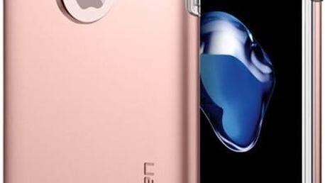 Pouzdro Spigen Hybrid Armor iPhone 7+ rose zlaté Růžová