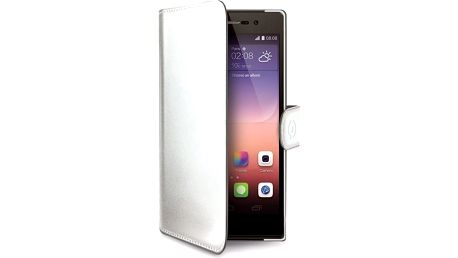 CELLY Wally pouzdro typu kniha Huawei P8 PU kůže bílé