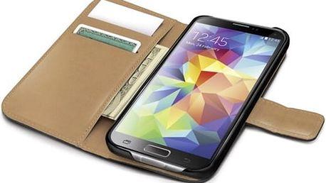 CELLY Wally pouzdro typu kniha pro Samsung Galaxy S5 PU kůže černé
