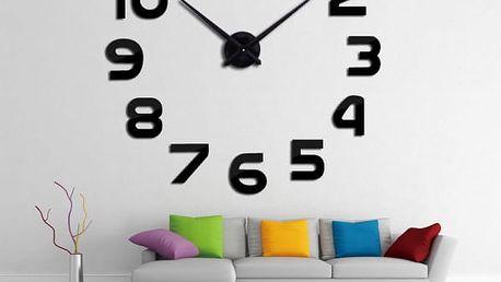 Netradiční nástěnné hodiny ve 3D provedení o průměru 1 metr
