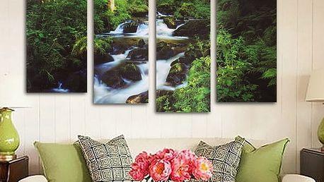 Obraz - lesní potok - 4 ks