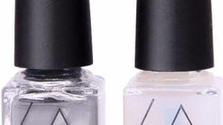 Lak s kovovým efektem a fixační lak na gelové nehty