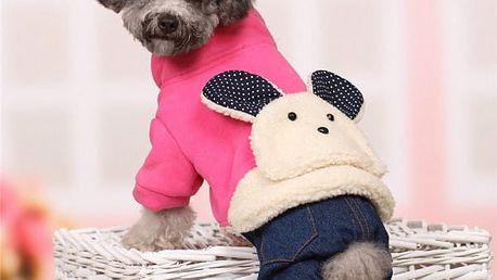 Zimní obleček pro psa se zajíčkem - 3 barvy