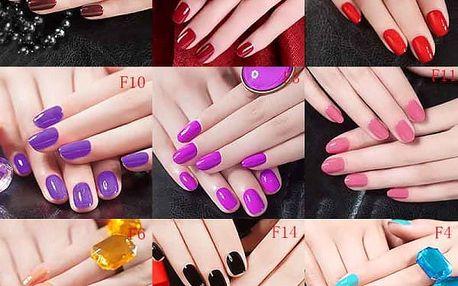 Umělé nehty v 17 barvách - 24 ks