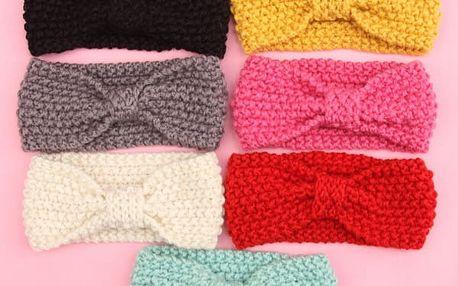 Dětská pletená čelenka - více variant