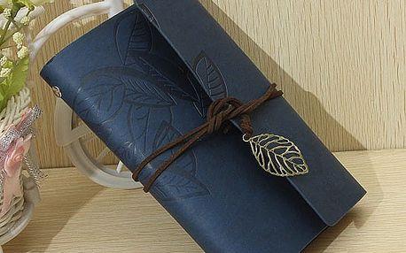 Vintage cestovní deník - Tmavě modrá