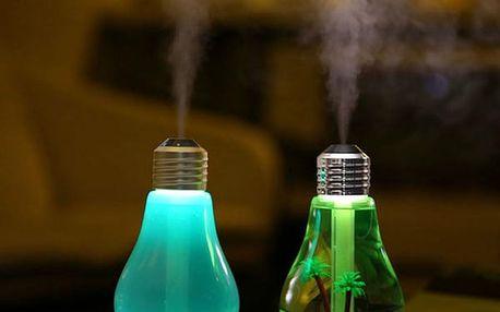 LED zvlhčovač vzduchu v podobě žárovky - 2 varianty