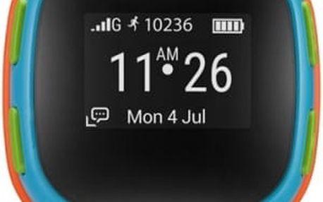 Chytré hodinky ALCATEL MOVETIME Track&Talk Watch (SW10-2JALCZ1) modré/oranžové