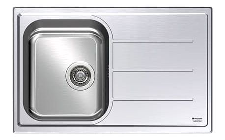 Kuchyňský nerezový dřez Hotpoint ROMA 79 (X)