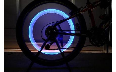 LED světlo na uzávěr duše kola - více barev