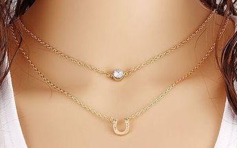 Dámský náhrdelník s podkovou - dodání do 2 dnů