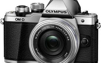Digitální fotoaparát Olympus E-M10 II + objektiv 14-42mm II stříbrný + Doprava zdarma
