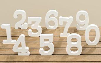 Sada 10 dekorativních číslic Boltze