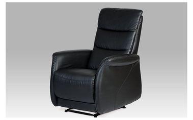 Relaxační křeslo, koženka černá TV-9506 BK
