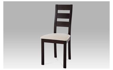 Dřevěná židle BC-2603 BK, hnědá/potah světlý