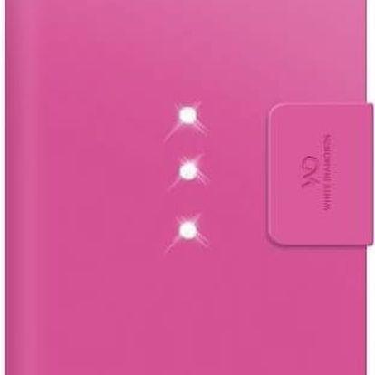 Pouzdro na mobil flipové White Diamonds Crystal Wallet pro iPhone 6 Plus / 6s Plus (WD-1322TRI41) růžové