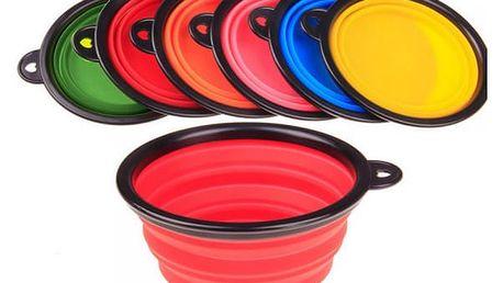 Cestovní skládací miska pro psy - různé barvy