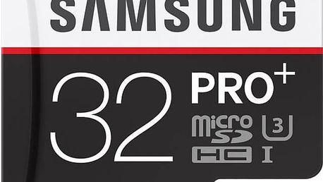 Paměťová karta Samsung MIcro SDHC PRO+ 32GB UHS-I U3 (95R/90W) + adapter (MB-MD32DA/EU)