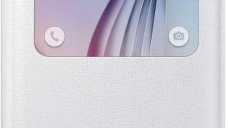 Pouzdro na mobil flipové Samsung S-View pro Galaxy S6 (EF-CG920PW) (EF-CG920PWEGWW) bílé