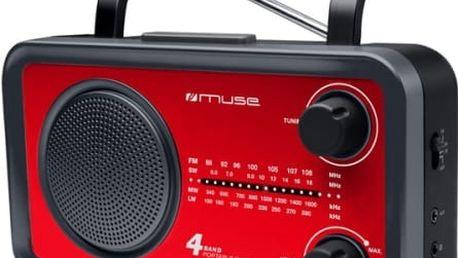 Radiopřijímač MUSE M-05 červený