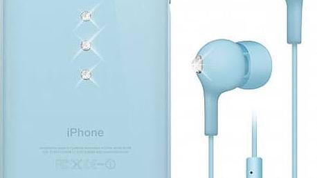 Kryt na mobil White Diamonds Crystal pro iPhone 6 + sluchátka (WD-7007TRI65) modrý