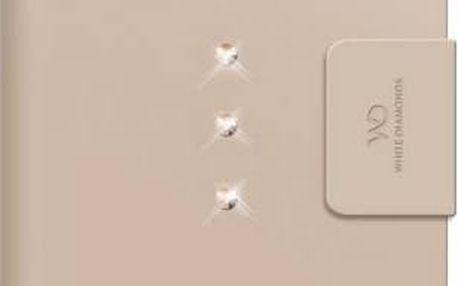 Pouzdro na mobil flipové White Diamonds Crystal Wallet pro iPhone 6 Plus (WD-1322TRI56) zlaté