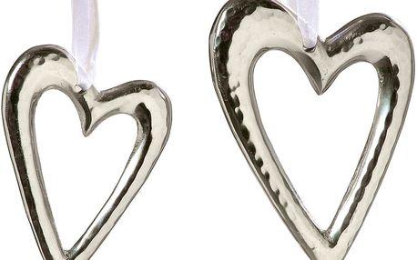 Sada 2 závěsných srdcí Boltze Silver Heart
