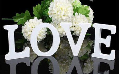 Dekorační písmena v bílé barvě