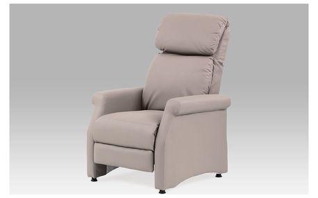 Relaxační křeslo, koženka lanýžová, TV-8057 LAN