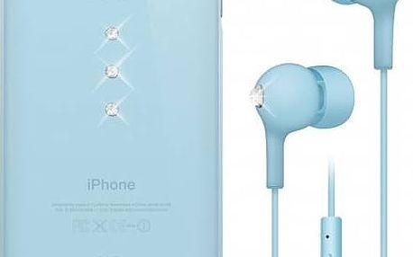Kryt na mobil White Diamonds Crystal pro iPhone 6/6s + sluchátka (WD-7007TRI65) modrý