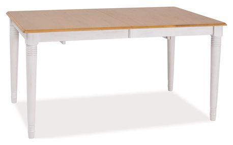 Jídelní stůl rozkládací FADO II 150x90, dub/bílá