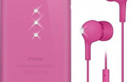 Kryt na mobil White Diamonds Crystal pro iPhone 6/6s + sluchátka (WD-7007TRI41) růžový
