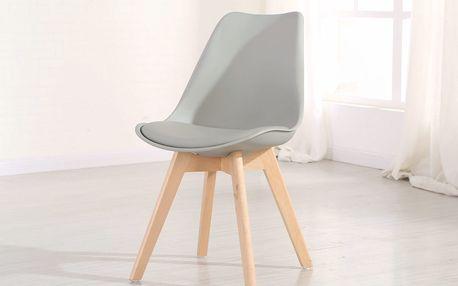 Jídelní židle CROSS, šedá
