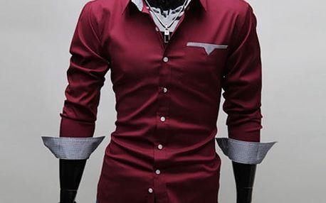 Pánská košile v ležérním stylu s různou barvou vnitřní strany