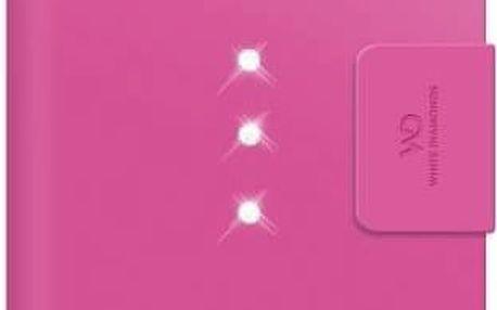 Pouzdro na mobil flipové White Diamonds Crystal Wallet pro iPhone 6 Plus (WD-1322TRI41) růžové