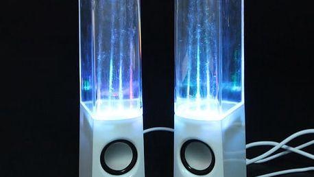Reproduktor tančící voda - 2 barvy