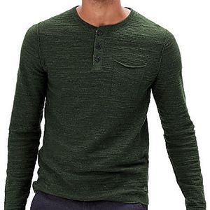 s.Oliver Pánský zelený svetr z jemného úpletu M