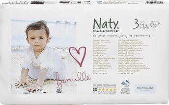 NATY NATURE BABYCARE 3 MIDI , 52 ks (4 - 9 kg) ECONOMY PACK - jednorázové pleny