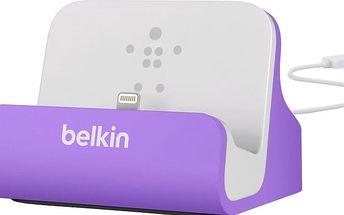 Belkin Mixit nabíjecí a sychronizační dok pro iPhone 5/SE, vč. light. konektoru, fialová - F8J045btPUR