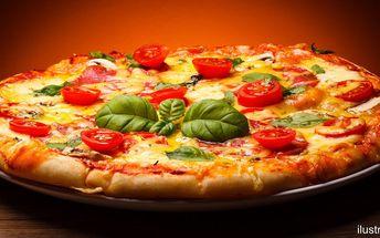 Pizza dle výběru i s nápojem, ⌀ 45 nebo 60 cm