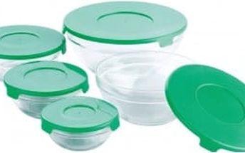 Dózy skleněné sada 10 ks zelené RENBERG RB-4419-GR