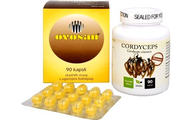 Sada Na Imunitu - Natural Medicaments Cordyceps Premium 90 kapslí + Areko Ovosan 90 kapslí + doprava zdarma
