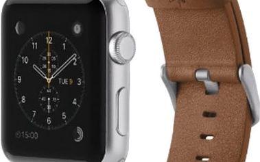 Belkin kožený řemínek pro Apple watch (42mm) - hnědá - F8W732btC01