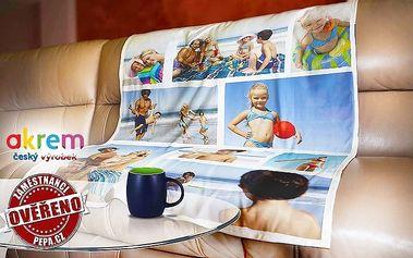 Originální fleecová deka z vlastních fotek s rozměry 120x150 nebo 140x200 cm