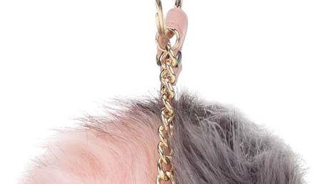 Šedo-růžová klíčenka ve tvaru koule ALDO Blosch