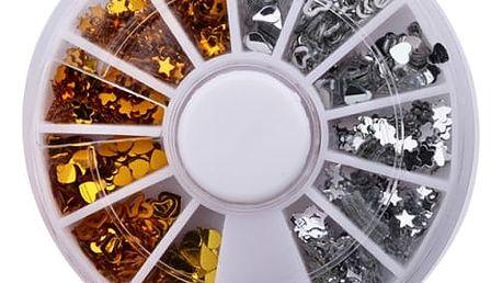 Flitry pro domácí úpravu nehtů - 11 barev