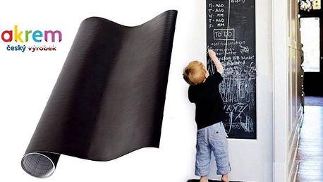 Samolepící vinylová tabule na křídy ve více rozměrech