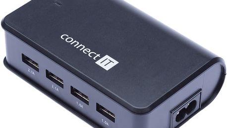 Connect IT 4x USB nabíječka 6,2 A (2x 2,1 A + 2x 1 A) - CI-497
