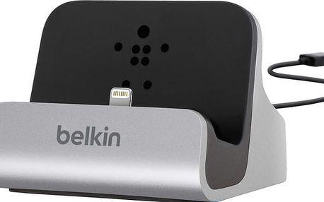 Belkin Mixit nabíjecí a sychronizační dok pro iPhone 5/SE, vč. light. konektoru, stříbrná - F8J045bt