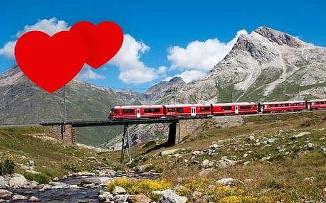 4denní Švýcarsko ZA POLOVINU! Poznávací autobusový zájezd, panoramatický vlak UNESCO, zastávka v Lichtenštejnsku